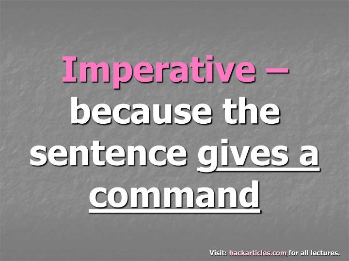 Imperative –