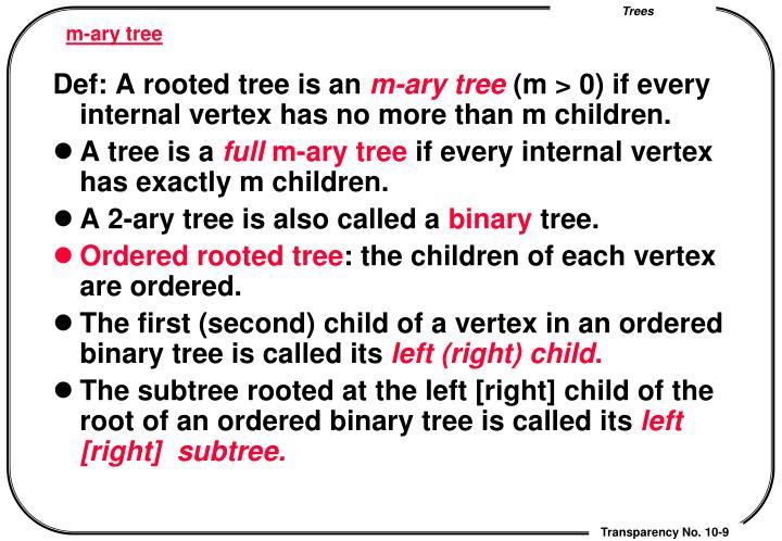 m-ary tree