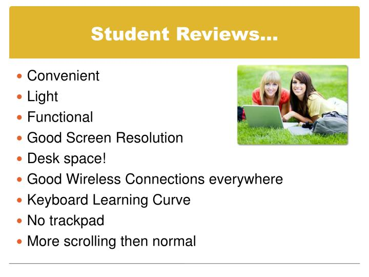 Student Reviews…