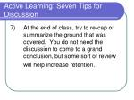 active learning seven tips for discussion3