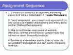 assignment sequence
