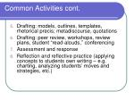 common activities cont1