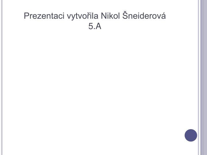 Prezentaci vytvořila Nikol Šneiderová