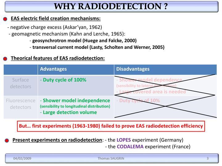 WHY RADIODETECTION ?