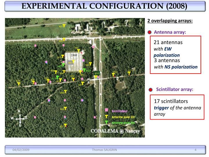 EXPERIMENTAL CONFIGURATION (2008)
