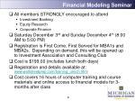 financial modeling seminar