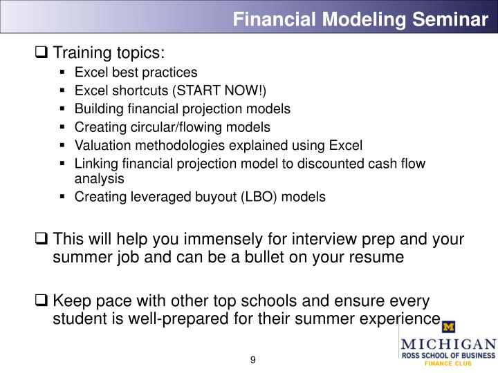 Financial Modeling Seminar