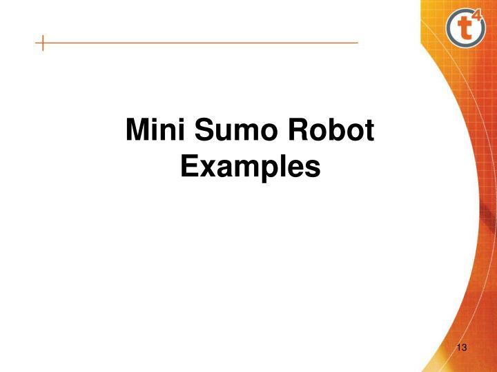 Mini Sumo Robot Examples