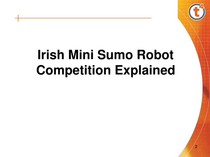 Irish Mini Sumo Robot Competition Explained