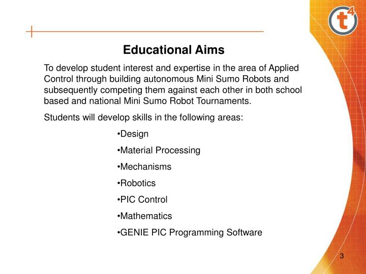Educational Aims