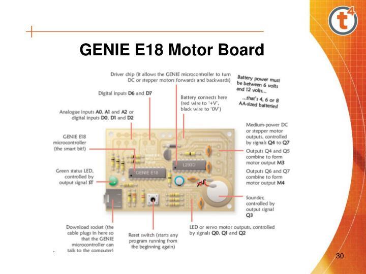 GENIE E18 Motor Board
