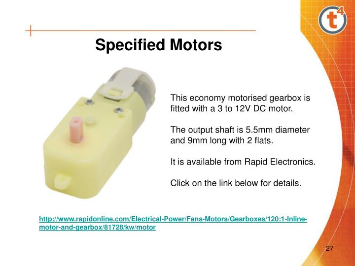 Specified Motors