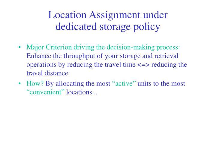 Location Assignment under