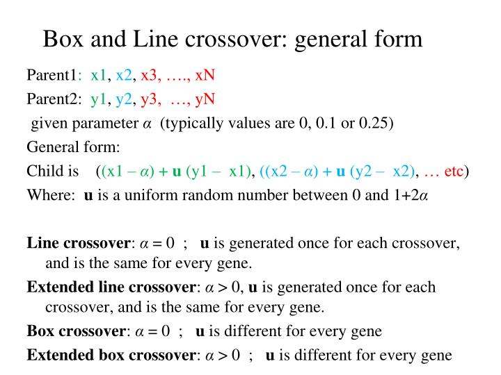 Box and Line crossover: general form
