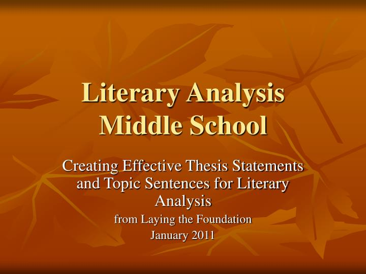 thesis statements for literature