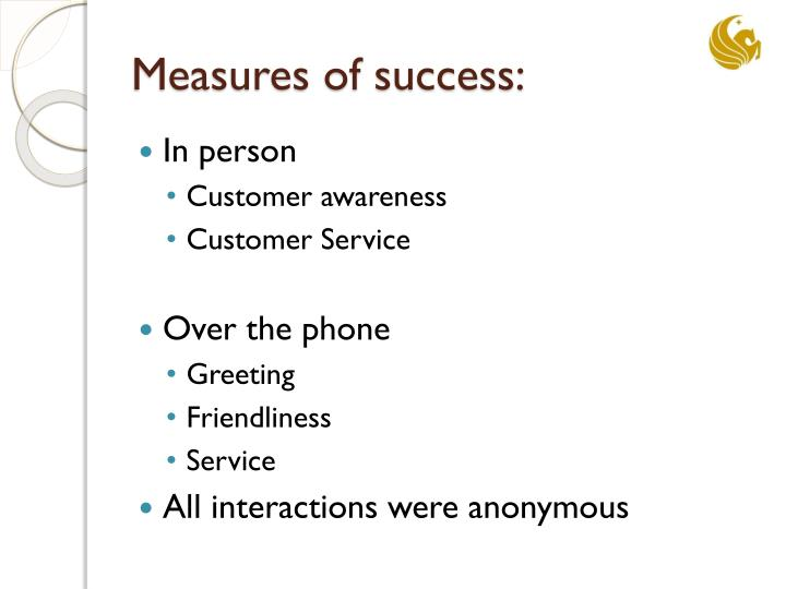 Measures of success: