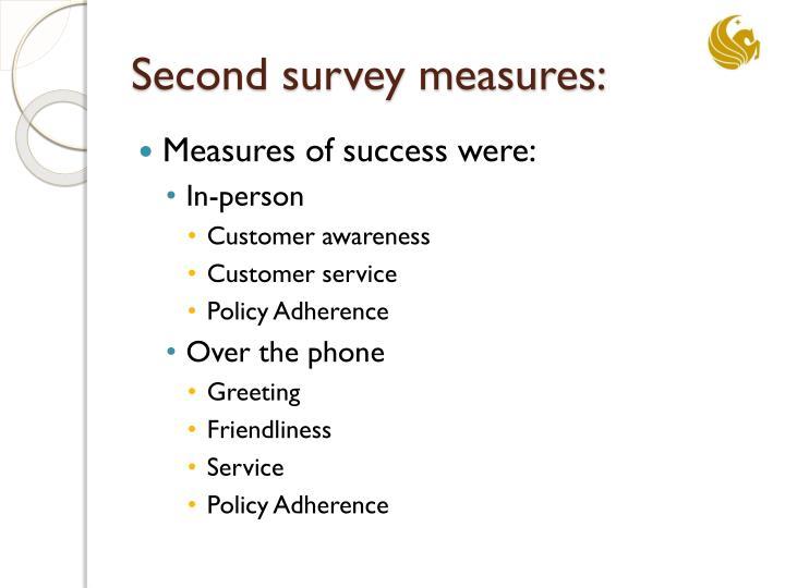 Second survey measures: