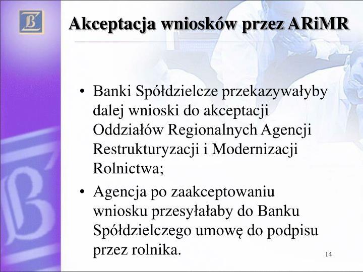 Akceptacja wniosków przez ARiMR