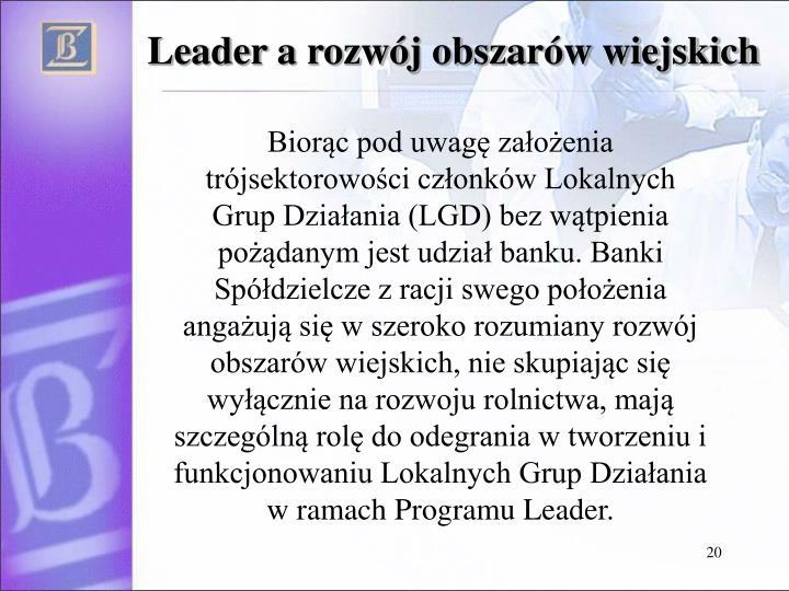 Leader a rozwój obszarów wiejskich