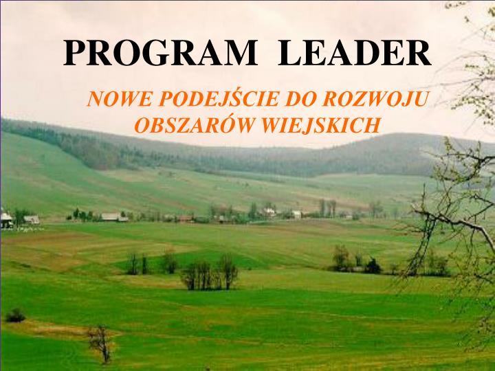 PROGRAM  LEADER