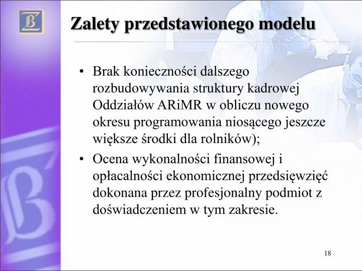 Zalety przedstawionego modelu