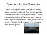 questions for the characters