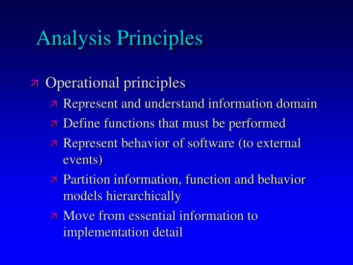 Analysis Principles