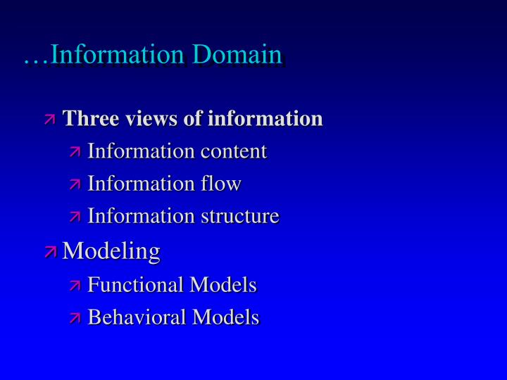…Information Domain