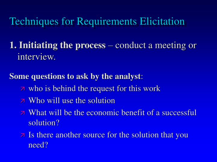 Techniques for Requirements Elicitation