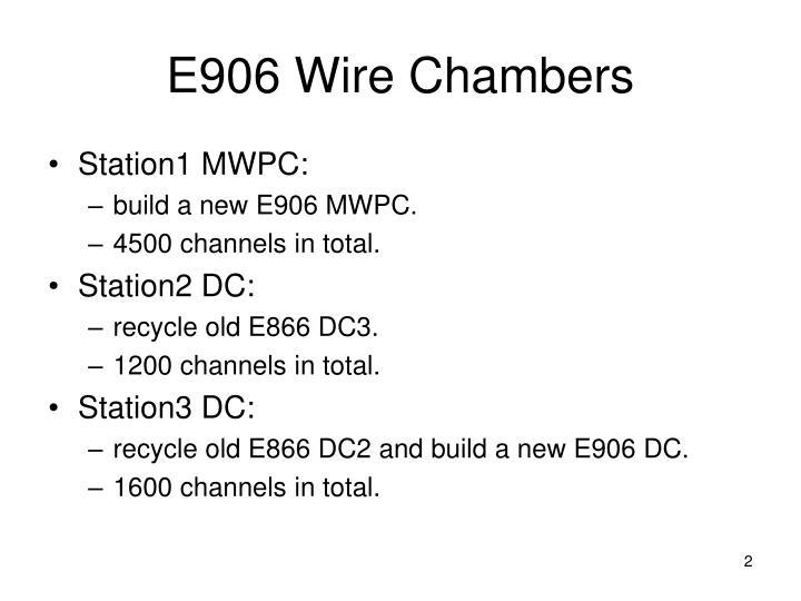 E906 Wire Chambers