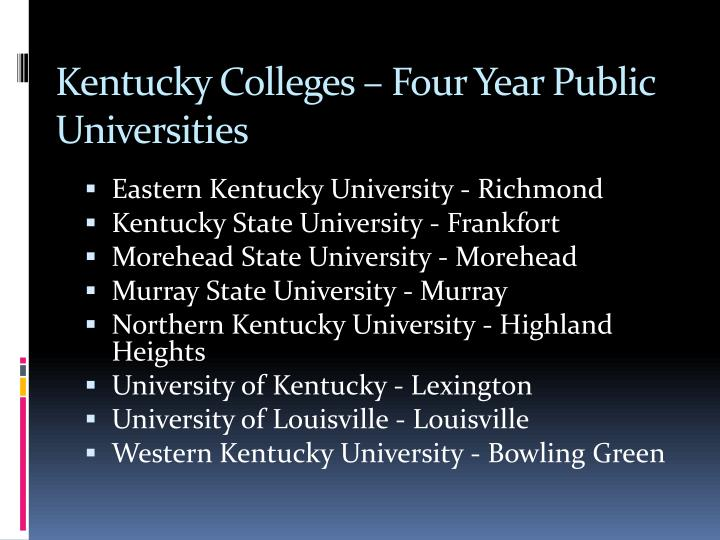 Kentucky Colleges – Four Year Public Universities