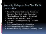 kentucky colleges four year public universities