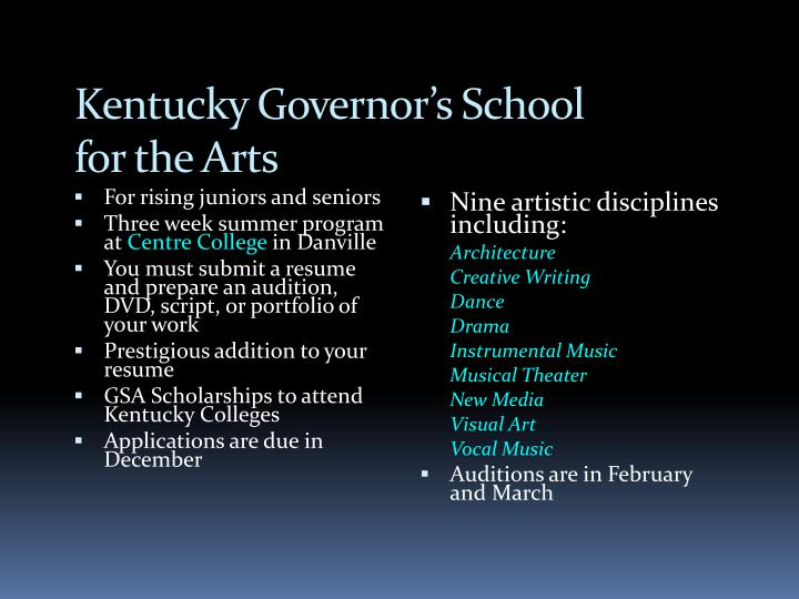 Kentucky Governor's School