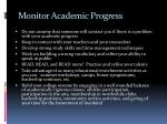 monitor academic progress