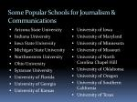 some popular schools for journalism communications