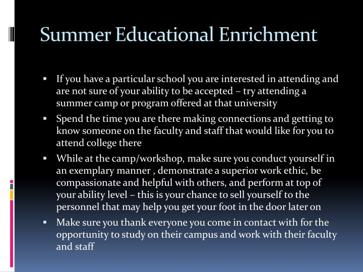 Summer Educational Enrichment