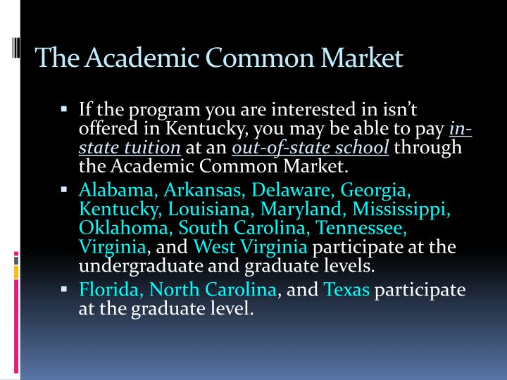 The Academic Common Market