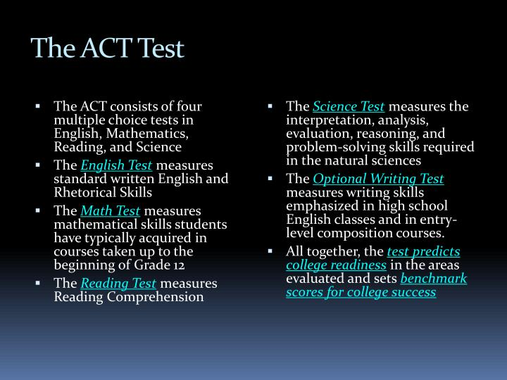 The ACT Test