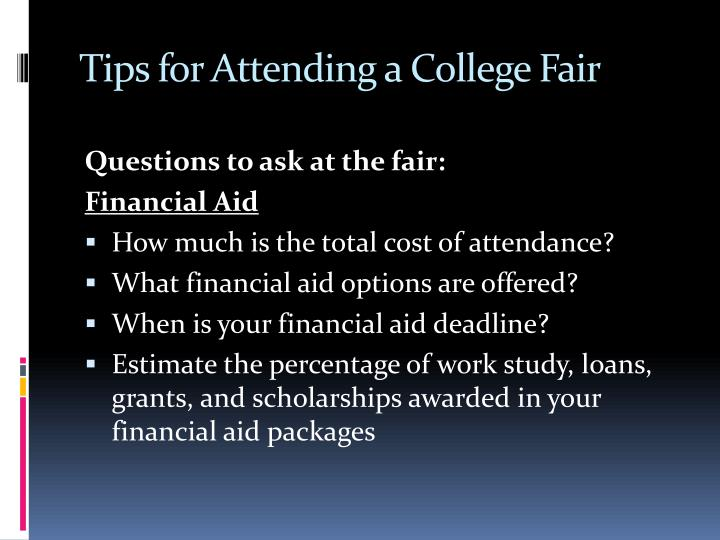 Tips for Attending a College Fair