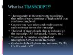 what is a transcript