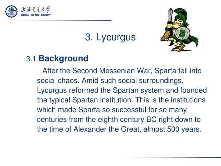 3. Lycurgus