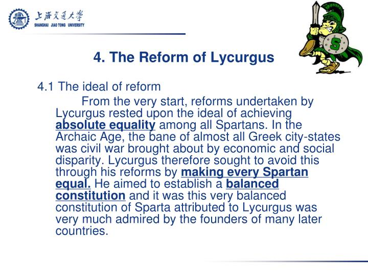 4. The Reform of Lycurgus