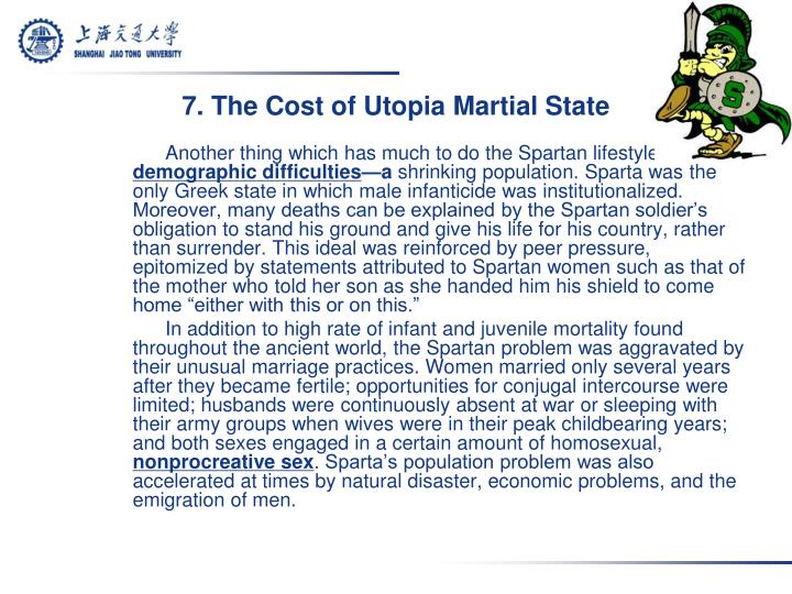 7. The Cost of Utopia Martial State