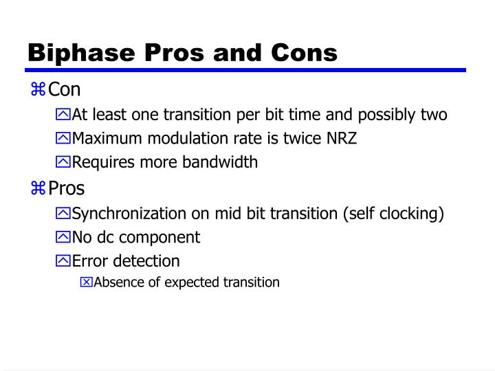 Biphase Pros and Cons