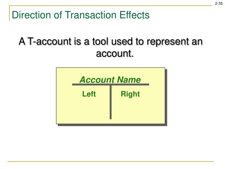 A T-account is a tool used to represent an account.