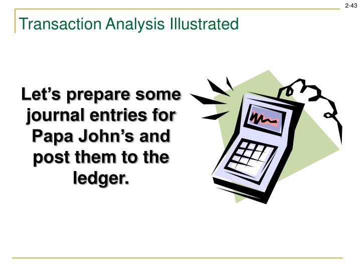 Transaction Analysis Illustrated