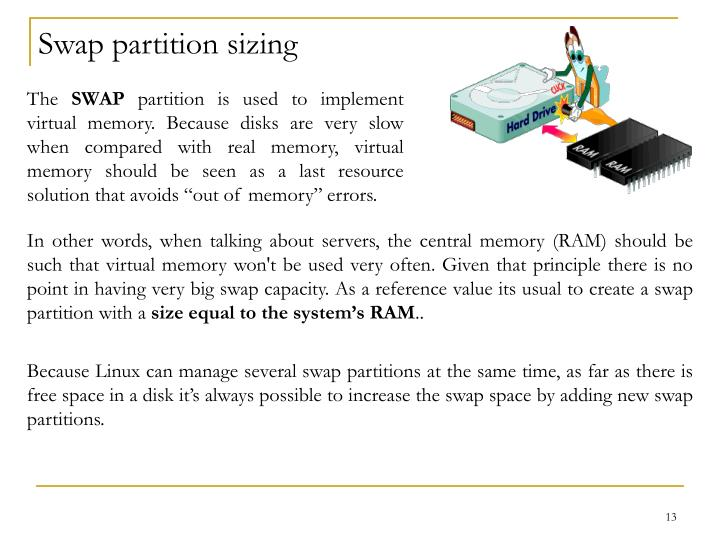 Swap partition sizing