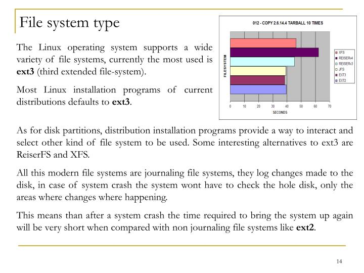 File system type