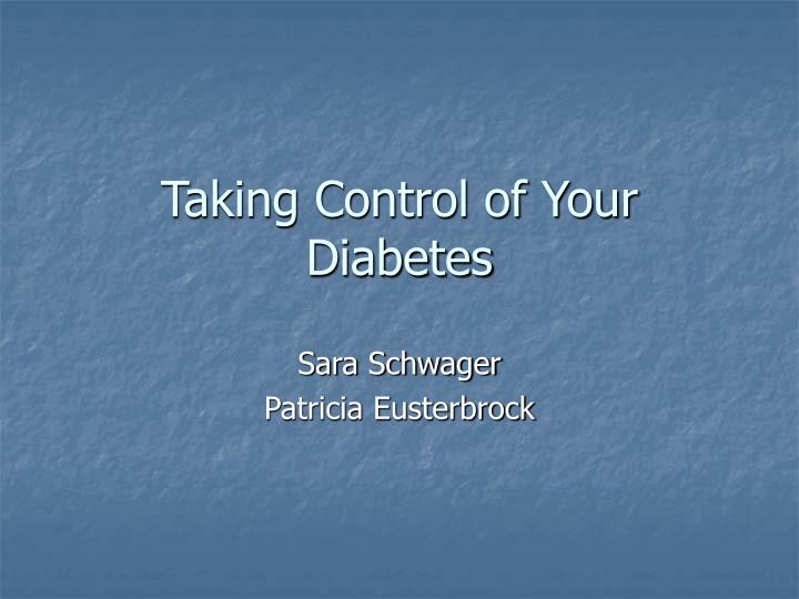 Taking control of your diabetes