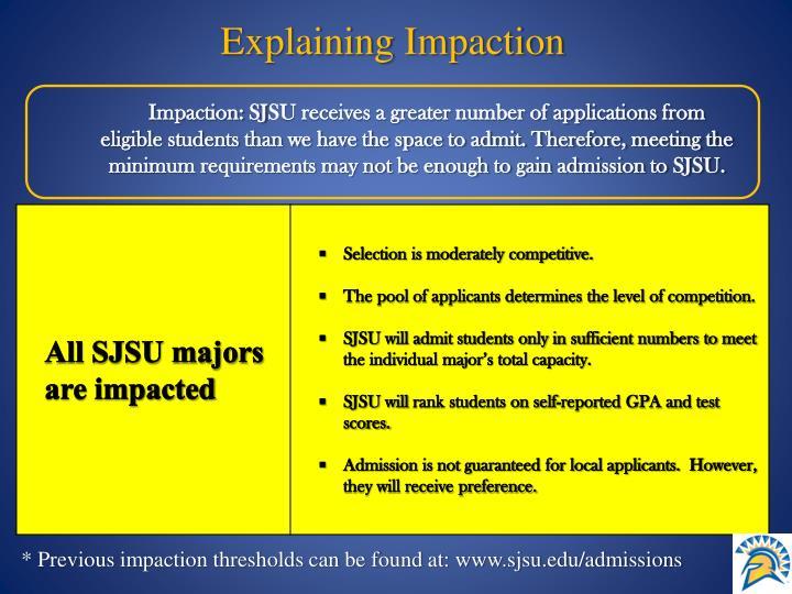 Explaining Impaction